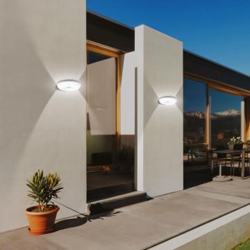 Настенный светодиодный светильник Novotech Street Kaimas 357404, IP54, LED 12W 3000K 800lm, темно-серый, белый, металл, металл с пластиком, пластик