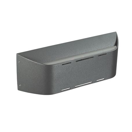 Настенный светодиодный светильник Novotech Kaimas 357409, IP54, LED 3W, 3000K (теплый), серый, металл, стекло