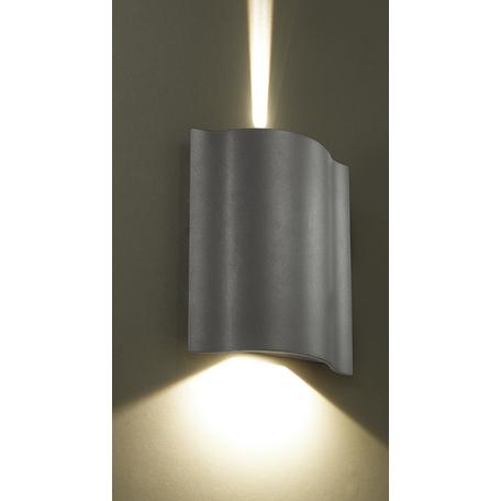 Настенный светодиодный светильник Novotech Kaimas 357415, IP54, LED 6W 3000K 60lm, серый, металл, стекло