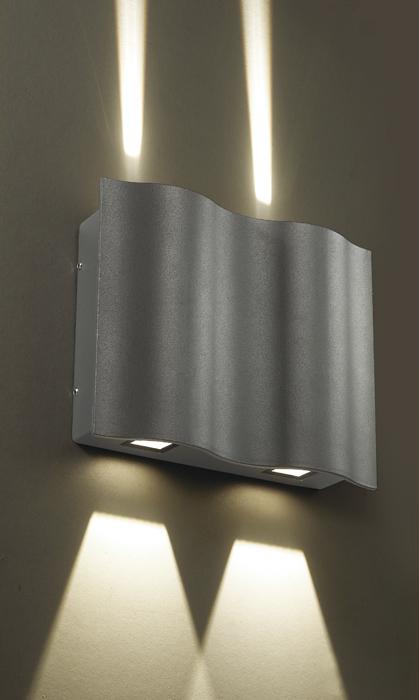 Настенный светодиодный светильник Novotech Street Kaimas 357416, IP54, LED 12W 3000K 103lm, серый, металл, стекло - фото 1