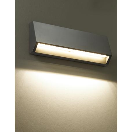 Настенный светодиодный светильник Novotech Kaimas 357418, IP54, LED 3,8W 3000K 220lm, серый, пластик