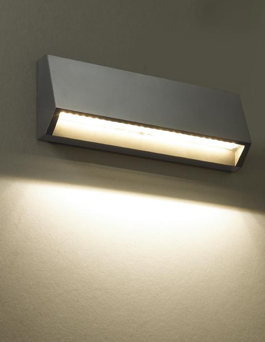 Настенный светодиодный светильник Novotech Street Kaimas 357418, IP54, LED 3,8W 3000K 220lm, серый, пластик - фото 1