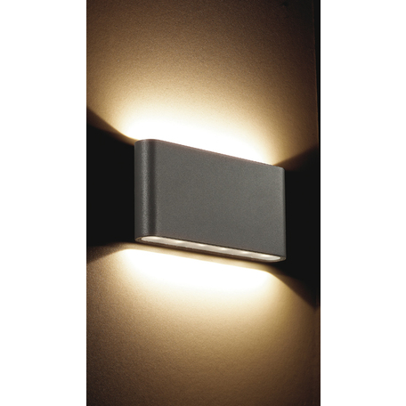 Настенный светодиодный светильник Novotech Kaimas 357422, IP54, LED 6W 3000K 378lm, серый, металл, стекло