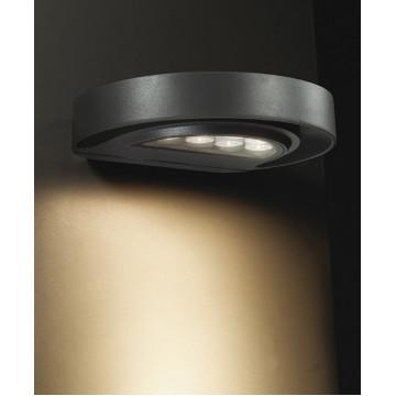 Настенный светодиодный светильник Novotech Kaimas 357423, IP54, LED 7W 3000K 287lm, серый, металл, стекло