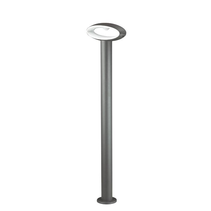 Садово-парковый светодиодный светильник Novotech Kaimas 357406, IP54, LED 7,2W 3000K 390lm, серый, металл, пластик - фото 1