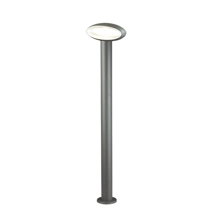 Садово-парковый светодиодный светильник Novotech Kaimas 357406, IP54, LED 7,2W 3000K 390lm, серый, металл, пластик - фото 2