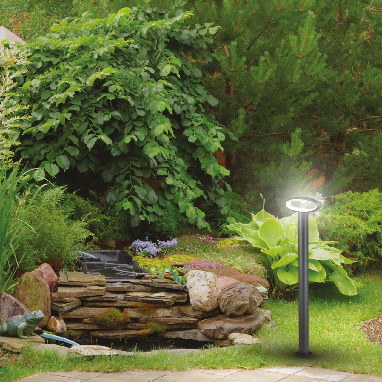 Садово-парковый светодиодный светильник Novotech Street Kaimas 357406, IP54, LED 7,2W 3000K 390lm, темно-серый, металл, пластик - фото 3