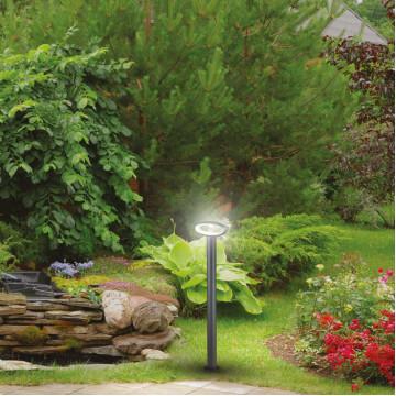 Садово-парковый светодиодный светильник Novotech Kaimas 357406, IP54, LED 7,2W 3000K 390lm, серый, металл, пластик - миниатюра 4