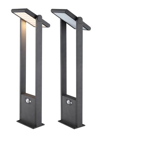 Садово-парковый светодиодный светильник с регулировкой направления света Novotech Solar LED 357413, IP54, LED 2,5W 3000K 170lm, серый, металл, металл с пластиком, пластик