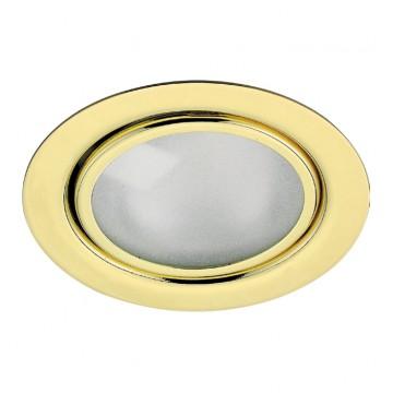 Светильник для рабочей подсветки Novotech Flat 369121, 1xG4x20W, золото, металл, стекло