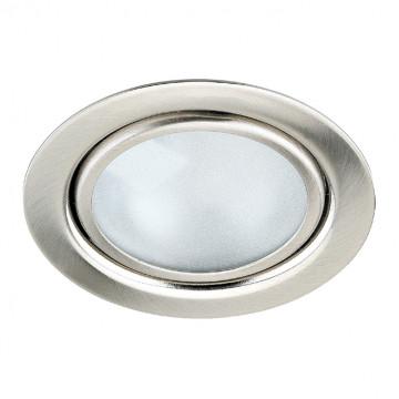 Встраиваемый мебельный светильник Novotech Spot Flat 369120, 1xG4x20W, никель, металл, стекло