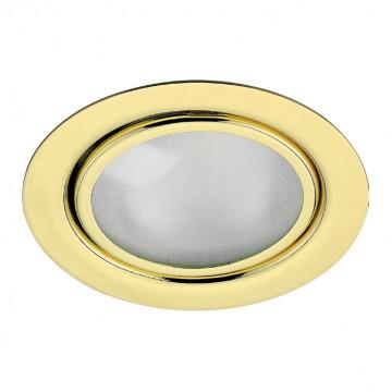 Встраиваемый мебельный светильник Novotech Spot Flat 369121, 1xG4x20W, золото, металл, стекло