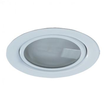 Встраиваемый мебельный светильник Novotech Spot Flat 369344, 1xG4x20W, белый, металл, стекло