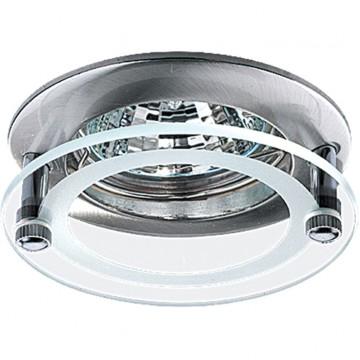 Встраиваемый светильник Novotech Round 369172, 1xGU5.3x50W, никель, прозрачный, металл, стекло