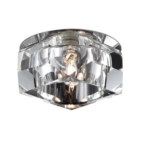 Встраиваемый светильник Novotech Vetro 369299, 1xG9x40W, хром, прозрачный, металл, хрусталь