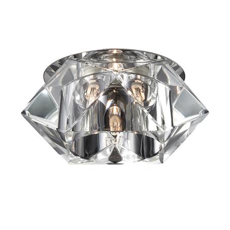 Встраиваемый светильник Novotech Vetro 369300, 1xG9x40W, хром, прозрачный, металл, хрусталь