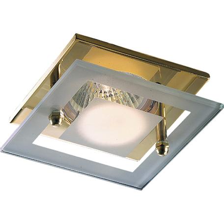 Встраиваемый светильник Novotech Window 369345, 1xGU5.3x50W, золото, белый, прозрачный, металл, стекло
