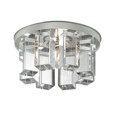 Встраиваемый светильник Novotech Caramel 3 369356, 1xG9x40W, хром, прозрачный, металл, стекло