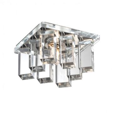 Встраиваемый светильник Novotech Caramel 2 369371, 1xG9x40W, хром, прозрачный, металл, стекло