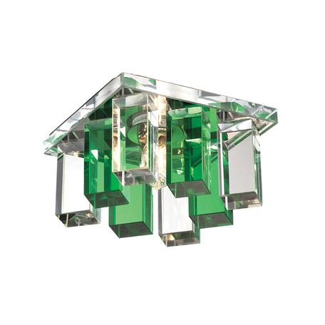 Встраиваемый светильник Novotech Caramel 2 369372, 1xG9x40W, металл, стекло