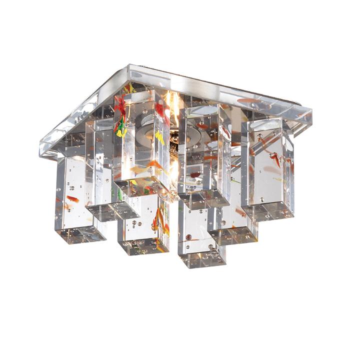 Встраиваемый светильник Novotech Caramel 2 369373, 1xG9x40W, хром, прозрачный, стекло - фото 1