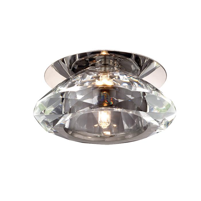 Встраиваемый светильник Novotech Crystal 369374, 1xG4x20W, металл, хрусталь - фото 1