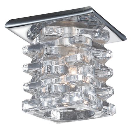Встраиваемый светильник Novotech Crystal 369375, 1xG4x20W, хром, прозрачный, металл, хрусталь