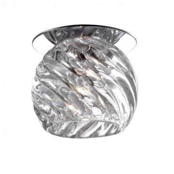 Встраиваемый светильник Novotech Vetro 369390, 1xGX6.35x50W, хром, прозрачный, металл, стекло