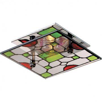 Встраиваемый светильник Novotech Vitrage 369394, 1xGU5.3x50W, хром, разноцветный, металл, стекло