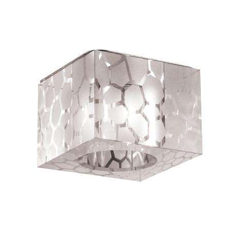Встраиваемый светильник Novotech Cubic 369425, 1xG9x40W, хром, белый, металл, хрусталь
