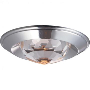 Встраиваемый светильник Novotech Glam 369427, 1xGU5.3x50W, хром, прозрачный, металл, хрусталь