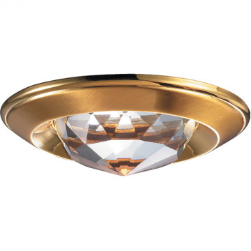 Встраиваемый светильник Novotech Glam 369428, 1xGU5.3x50W, золото, прозрачный, металл, хрусталь