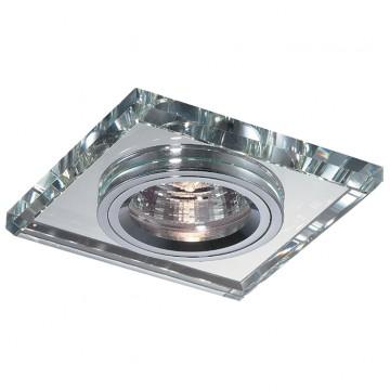 Встраиваемый светильник Novotech Mirror 369435, 1xGU5.3x50W, хром, металл, хрусталь