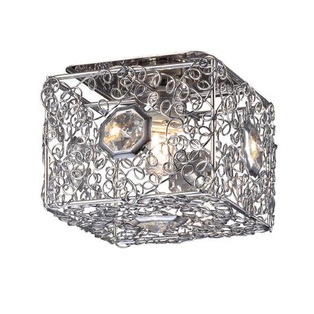 Встраиваемый светильник Novotech Lace 369454, 1xG9x40W, хром, прозрачный, металл, хрусталь