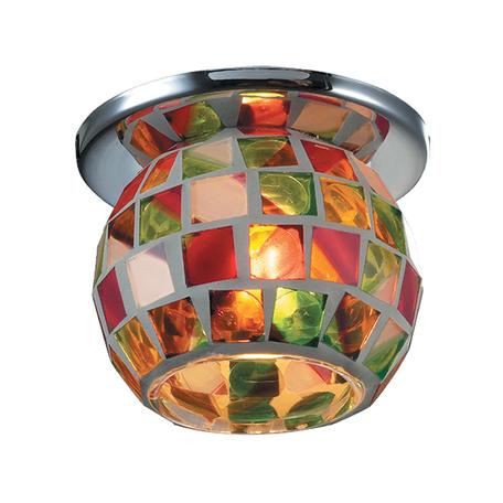 Встраиваемый светильник Novotech Vitrage 369464, 1xG9x40W, хром, разноцветный, металл, стекло