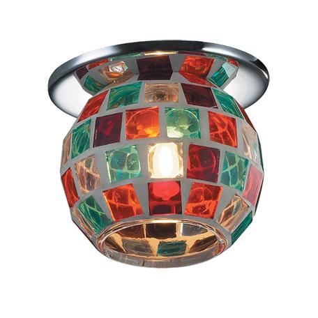 Встраиваемый светильник Novotech Vitrage 369465, 1xG9x40W, хром, разноцветный, металл, стекло - миниатюра 1