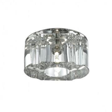 Встраиваемый светильник Novotech Vetro 369511, 1xG4x40W, хром, прозрачный, металл, хрусталь