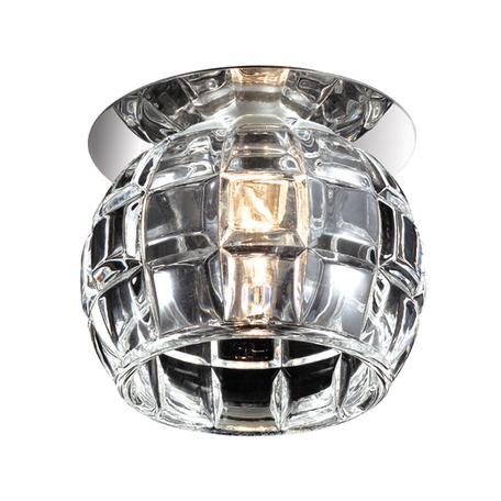 Встраиваемый светильник Novotech Vetro 369512, 1xG9x40W, хром, прозрачный, металл, хрусталь