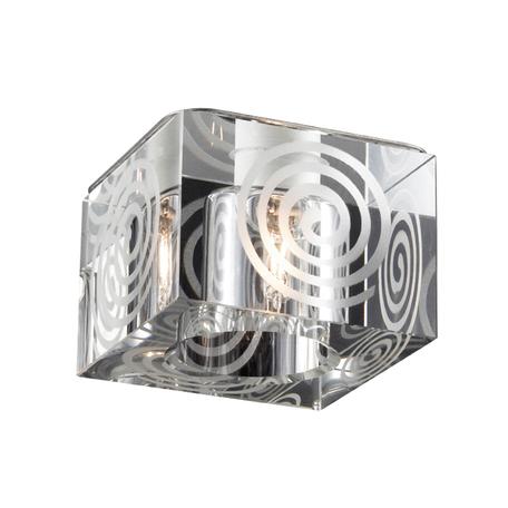 Встраиваемый светильник Novotech Cubic 369515, 1xG9x40W, прозрачный, хром, металл, хрусталь