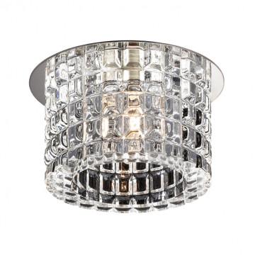 Встраиваемый светильник Novotech Vetro 369517, 1xG9x40W, хром, прозрачный, металл, хрусталь