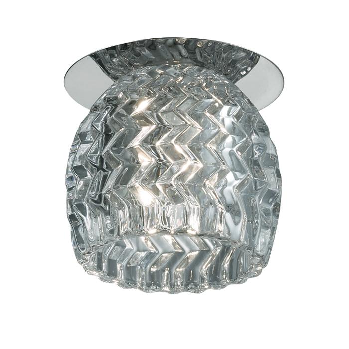 Встраиваемый светильник Novotech Vetro 369528, 1xG9x40W, хром, прозрачный, металл, хрусталь - фото 1