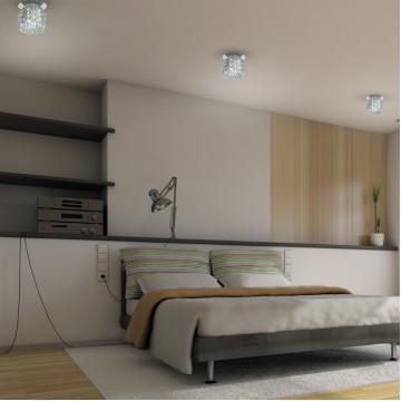Встраиваемый светильник Novotech Vetro 369528, 1xG9x40W, хром, прозрачный, металл, хрусталь - миниатюра 2
