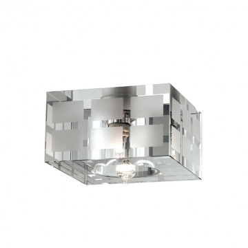 Встраиваемый светильник Novotech Cubic 369535, 1xG9x40W, хром, белый, металл, хрусталь