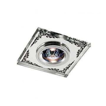 Встраиваемый светильник Novotech Mirror 369543, 1xGU5.3x50W, прозрачный, хром, металл со стеклом/хрусталем