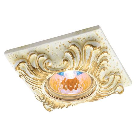 Встраиваемый светильник Novotech Sandstone 369568, 1xGU5,3x50W, песчаник