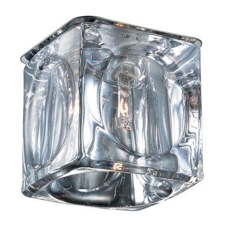 Встраиваемый светильник Novotech Vetro 369593, 1xG9x40W, хром, прозрачный, металл, стекло