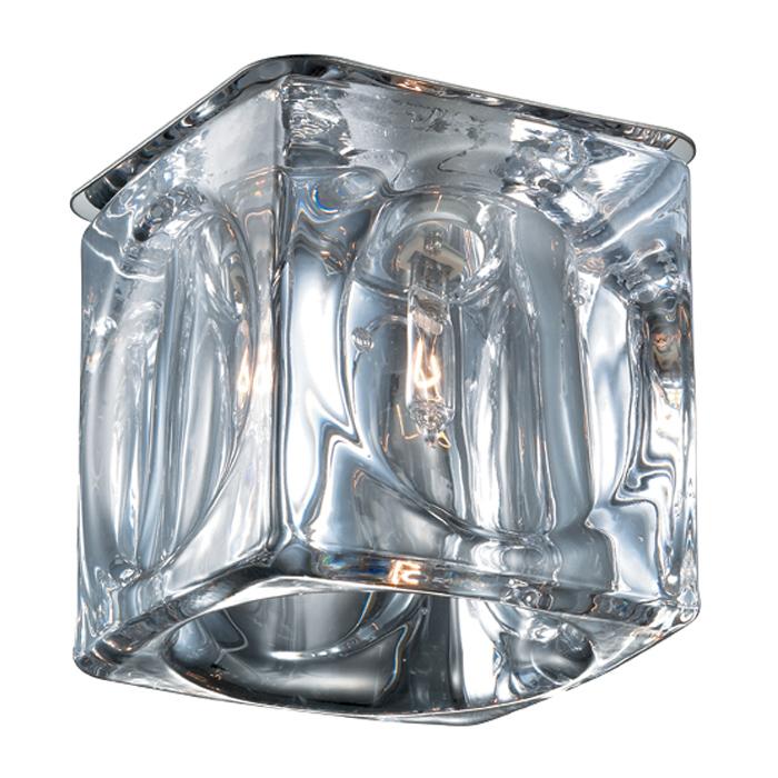 Встраиваемый светильник Novotech Spot Vetro 369593, 1xG9x40W, хром, прозрачный, металл, стекло - фото 1
