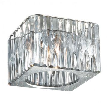 Встраиваемый светильник Novotech Cubic 369596, 1xG9x40W, хром, прозрачный, металл, хрусталь