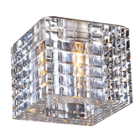 Встраиваемый светильник Novotech Cubic 369600, 1xG9x40W, хром, прозрачный, металл, хрусталь