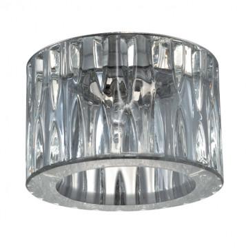 Встраиваемый светильник Novotech Vetro 369602, 1xG9x40W, хром, прозрачный, металл, хрусталь